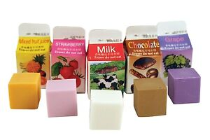 Kikkerland Set Of 5 Scented Erasers Flavoured Milk Shake Carton Mini Rubbers