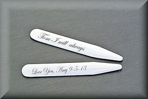 PERSONALIZED-STAINLESS-STEEL-COLLAR-STAYS-CUSTOM-ENGRAVED-FREE