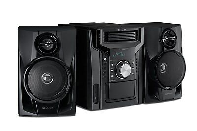 Sharp Cd Bh950 240W 5 Disc Mini Shelf Speaker System With Cassette And Bluetooth
