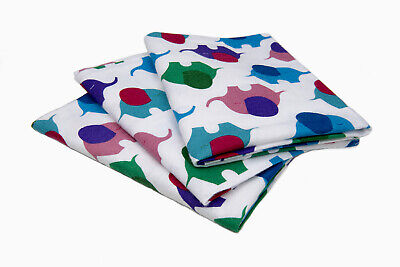 Tarad Hospital Flannel Baby Blankets, 100% Cotton Elephant, 3 Piece