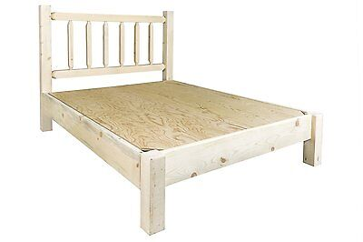 Farmhouse Style Platform Bed QUEEN Amish Made Rustic Beds Un