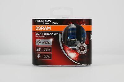 HB4 51W P22d x2 Osram Headlight Fog Light Night Breaker Unlimited Bulb