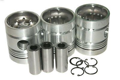 Piston Kit Rings For Massey Ferguson 135 245 Tractors 3 Cylinder