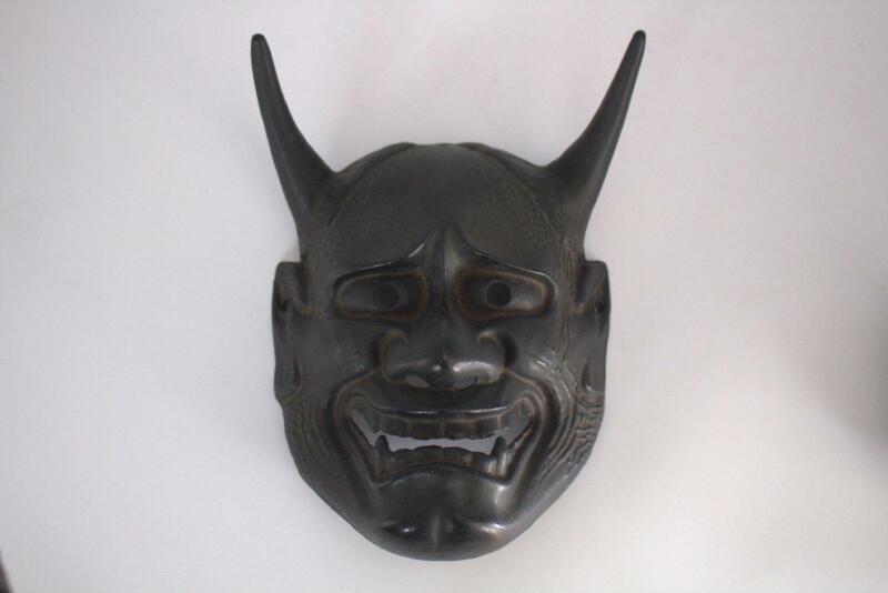 Japanese iron Noh mask Hannya MSK224