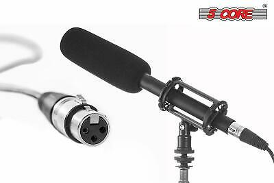 5 Core Reporter Interview Camera Shotgun Electret Condensor Microphone IM-320 Camera, Drone & Photo Accessories