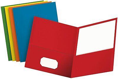 Oxford Two Pocket Folders Assorted Colors Letter Notebook File Folder