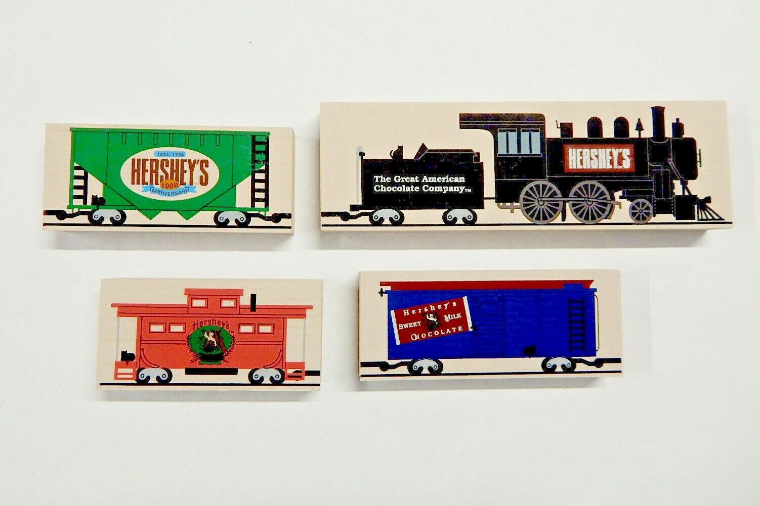 The Cat s Meow Village Pieces Lot Of 4 Hershey, PA Chocolate Town USA Train - $4.99