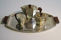 Quist Art Deco' 1930 Antico Servizio Da Te/caffe' Argentato Con Vassoio -  - ebay.it