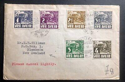 1939 Pontianak Netherlands Indies cover To Blenheim New Zealand