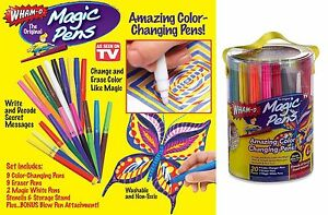Magic Pens Color Changing Markers  As Seen On TV Washable Stencils 20 Pens E 글