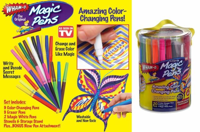 Magic Pens Color Changing Markers  As Seen On TV Washable Stencils 20 Pens XW ぱ