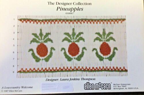 ELLEN MCCARN SMOCKING PLATE #010067 PINEAPPLES
