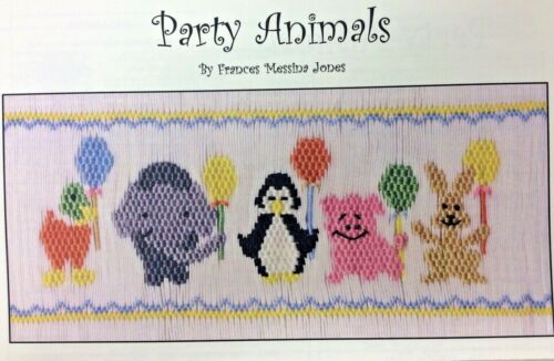 FRANCES MESSINA JONES SMOCKING PLATE- PARTY ANIMALS