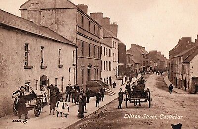 ELLISON STREET CASTLEBAR CO. MAYO IRELAND VALENTINES IRISH POSTCARD No. 62316