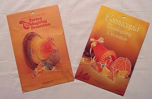 Thanksgiving Decorations Honeycomb NEW Turkey & Cornucopia Centerpieces Paper
