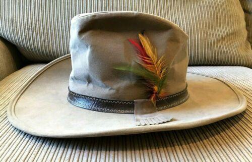 "Stetson Western Hat ""Smokey and the Bandit-II"" Sz Medium, Band, Kiltie, Feathers"