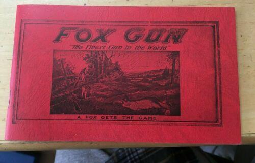 "1923 FOX GUN Catalog  reprint from Lightner Library 6""x4"" 40 pages"