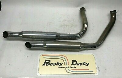 Harley Ironhead sportster Shovelhead 1 Turn out exhaust drag pipes