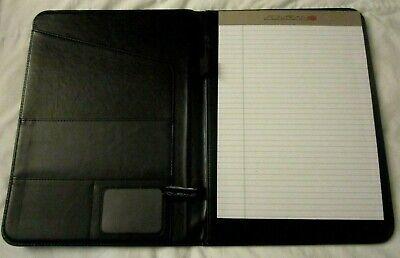 Fireeye Black Sovrano Portfolio Leather Folder A4 File Notepad Document Holder