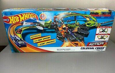 Hot Wheels Biggest Set Ever! Action Colossal Crash Set - New Damaged Box