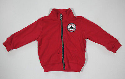 Neu All Star Converse Kinder Jungen Pullover Sweatshirt Jacke Rot Gr.6-9M 18