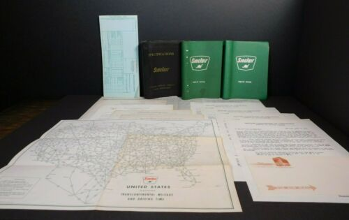 Group Of Sinclair Items - Envelope - Letterhead - Mileage Map - Pocket Notebooks