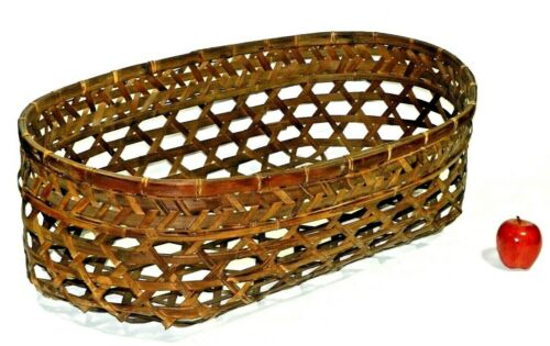 Vintage Wicker Woven Baby Bassinet Basket