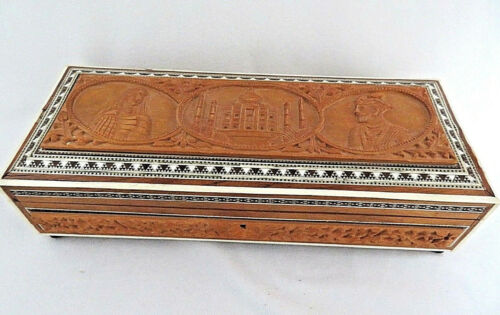 Inlay Wood and Incolay Adornment Trinket Box, Egypt