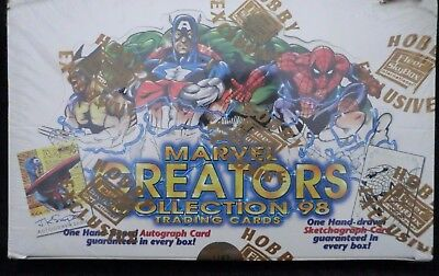1998 98 FLEER SKYBOX MARVEL CREATORS COLLECTION TRADING CARDS HOBBY BOX SEALED
