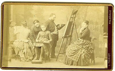 THIRIOT Mazéville dans l'atelier du peintre cours de dessin PHOTO CDV