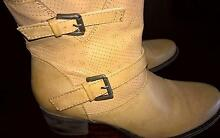 AS NEW Beige Leather Ladies Corelli ELM Ankle Boots Size 8/39 Rostrevor Campbelltown Area Preview