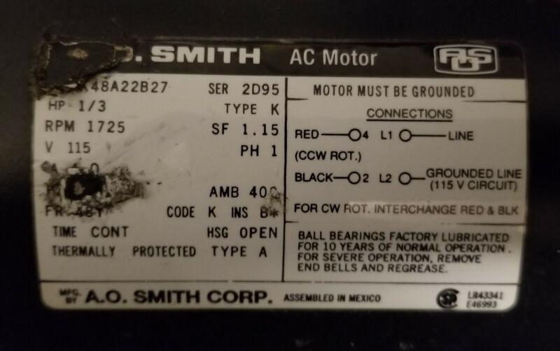 Tennant 750, Castex carpet extractor USED motor pump A.O, SMITH