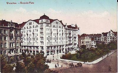 Poland Warszawa - Warecki-Platz old unused postcard