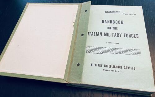 Handbook on German Military Forces Technical Manual August 1943 Hardback