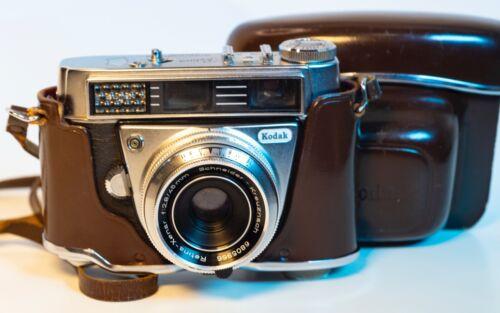 1961 Kodak Retina Automatic III Retina-Xenar 45mm f2.8 Lens & Leather Case WORKS