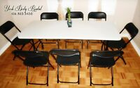 Affordable Party Rentals! Chairs,Tables,Chafing Dishes..