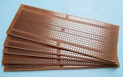 5pcs 4.8x13.4cm Stripboard Prototype Circuit Perf Board Bus Breadboard Vero Pcb