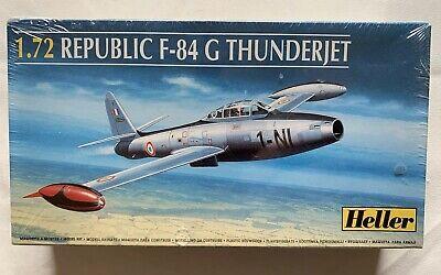 Republic F-84 G Thunderjet 1/72 Scale Heller Model Kit 80278 SEALED