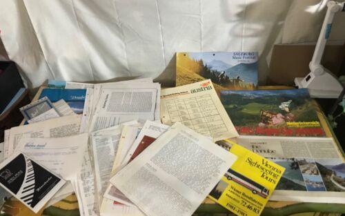 Mixed Lot 80's Travel Ephermera Schedules Music Festival Pamphlet Danube Austria