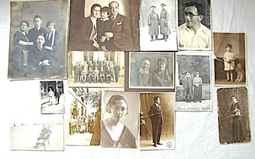 Collection of 14 old photos of Jewish people, Eretz Israel, Germany, Russia