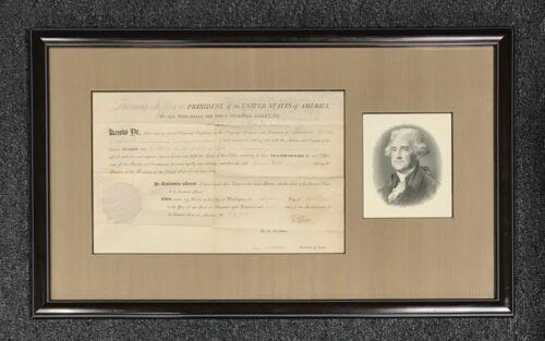President Thomas Jefferson & James Madison Signed 1807 Doc PSA/DNA LOA