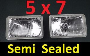 1pr-5x7-Semi-Sealed-Lights-Headlights-Valiant-Chrysler-Charger