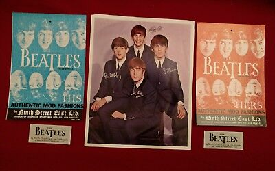 Vintage 1966 BEATLES Ninth Street East Ltd. L.A. Clothing Mod Fashion press pack