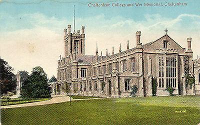 Vintage Postcard CHELTENHAM COLLEGE & WAR MEMORIAL, Gloucestershire (A2)