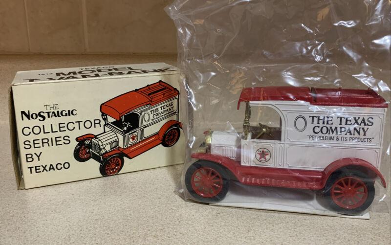 Vintage 1984 #1 Texaco Truck Model T Van-Bank By ERTL