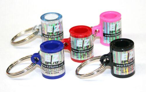 EZ Splitz 5 Pk Cigar Cutter Blunt Splitters- Solid Steel Key Chains by SirGARA ®