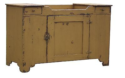 PRIMITIVE PAINTED COUNTRY FARMHOUSE DRY SINK FURNITURE  PINE CUPBOARD RUSTIC - Pine Painted Furniture