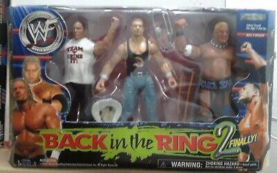 WWF Jakks Back in the Ring 2 Finally - The Rock, Triple H & Rikishi Figures 3 Pk