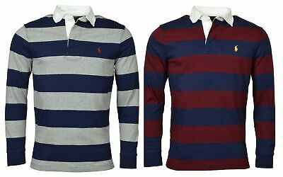 Polo Ralph Lauren Men's Classic Fit Long Sleeve Striped Rugby -