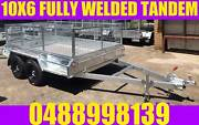 10X6 FULLY WELDED GALVANISED TANDEM TRAILER CAGED BOX TRAILER Clayton Monash Area Preview